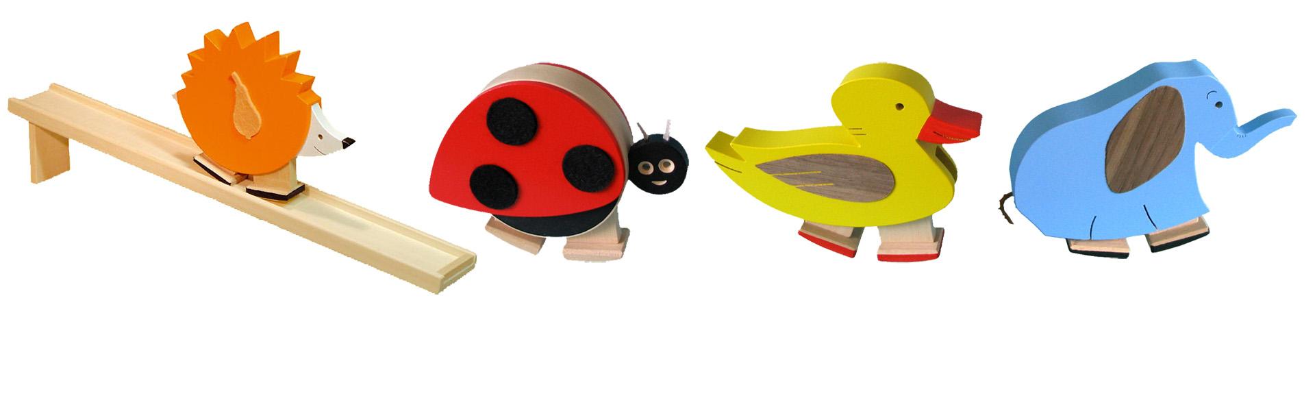 Chodící hračky barevné